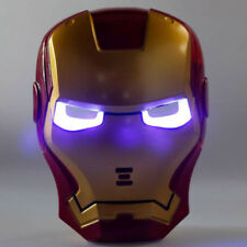 Iron Man Mask w/ Blue LED Light Eyes for Avengers Halloween Masquerade Cosplay