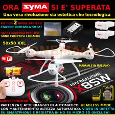 NUOVO DRONE SYMA X8 SW XXL BLOCCO ALTEZZA HEADLESS CAMERA HD e FPV real time