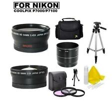 Accessory Kit (Wide Tele Filters Tripod) for Nikon Coolpix P7000 P7100