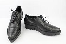 Zapatos oxford PLATAFORMA EDEN Cuero estilo pitón Negro T 37 EXCELENTE ESTADO