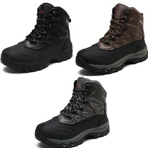 Men's New Winter Warm Outdoor Waterproof Hiking Ankle Snow Boots Size 6.5-15