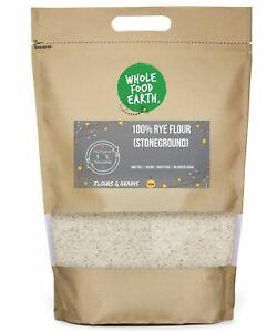 Rye Flour 100% (Stoneground)   GMO Free   Vegan   Dairy Free   No Added Sugar