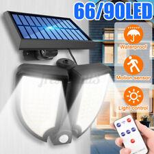 90 LED Outdoor Solar Light Sensor Motion Wall Lamp W/ Remote Control