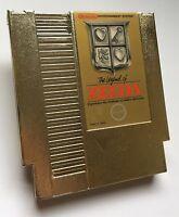Nintendo NES The Legend of Zelda Gold Video Game Cartridge