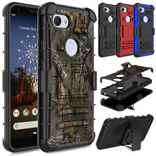 For Google Pixel 3a/3a XL Shockproof Kickstand Case Cover With Belt Clip Holster