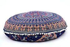 Pavone Rotondo Mandala Indian Cuscino Piano Copricuscino Coperchio Gettare Puf