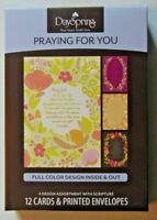 Box PRAYING FOR YOU Greeting Cards Christian Bible Scripture Inspirational Verse