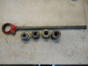 """Ridgid 111-R Pipe Threader Ratcheting Head 3/4"""", 1/2"""", 3/8"""", 1/4"""" Die Heads"""