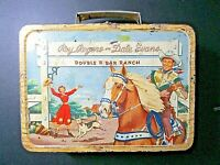Vintage 1953 Roy Rogers & Dale Evans-Trigger & Bullet Metal Lunchbox