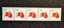 2016USA  #5039 10c Pears  Coil  Strip of 5  PNC  Mint  NH   #S111111   pear
