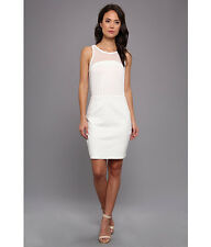 BCBG Generation Mesh Mini Short Cocktail Womens Dress NWT Size 6 White Ink
