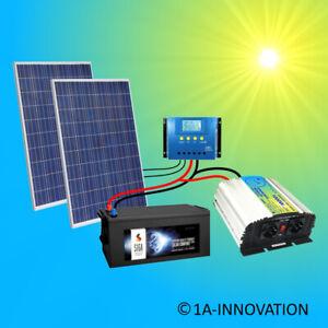 500W Solaranlage Komplettpaket 220V + Akku 280Ah Solarpanel 1000W Wandler Watt
