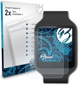 Bruni 2x Protective Film for Sony SmartWatch 3 Screen Protector
