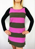 MARIMEKKO Round Neck Boiled Wool Striped Sleeveless Short OSELOTTI Tunic Dress