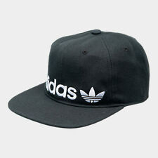 Adidas Originals Men's Banner Hat Black White Relaxed Adjustable Strapback Cap