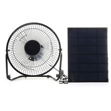Portable Solar Panel Powered Fan Cooling Ventilation for Home Office Travel