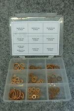 Kupferdichtungen Sortiment 125 tlg. NEU+OVP Kupfer Dichtringe Dichtungsscheiben