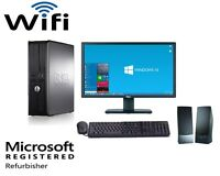 Fast Dell Optiplex Desktop PC Computer Dual Core 3.0Ghz 8GB 1TB Win 10 Pro WIFI
