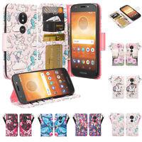Motorola Moto E5 Plus Case, Pu Leather Magnetic Flip Stand Wallet Cover Wristlet