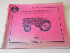 Catalogue pièces de rechange tracteur Renault E 30 type R 3051