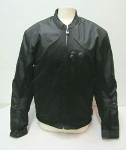MENS SIZE MEDIUM FULMER ARMORED MOTORCYCLE JACKET COAT PADDED W/ REMOVABLE LINER