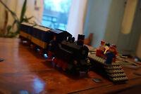 Lego Eisenbahn Schiebezug Personenzug 7710 + Schienen