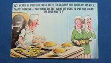 Risque Bamforth Comic Postcard 1970s Dentist Orthodontist False Teeth Chef Pies