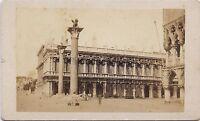 Carlo Ponti Venezia Palazzo Ducaie Unificazione Italia CDV Vintage Albumina