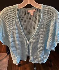 DRSSBARN short Sleeve Crochet Bolero Open Cover Up Jacket SIZE XL