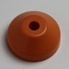 "Plastic Dome 45 Record Adapter in Orange Insert for 7"" Vinyl 45 rpm Funk Soul"