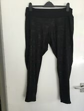 Atmosphere - (Size 18) Pull On Starch Black Active Leggings