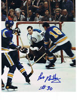 Les Binkley Pittsburgh Penguins 8x10 Photo Rare Signed.