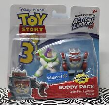 TOY STORY 3 BUDDY PACK Laser Buzz Lightyear & Metallic Sparks Wal-Mart T3601 NEW