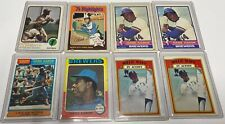 Hank Aaron ,, Willie Mays, Roberto Clemente baseball card lot