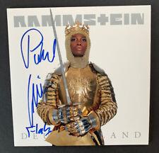 Rammstein 3/6 signed signiert original Autogramm auf Deutschland Vinyl Single