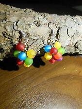 Neu unikat Regenbogen Polarisohrringe bunt Hänger Polaris Ohrringe gelb grün rot
