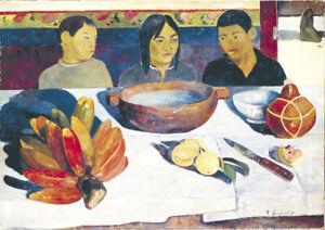 Paul Gauguin - The Meal - HUGE A1 size 59.4x84cm Art Canvas Decor Print Unframed