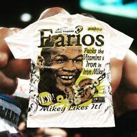 Mike Tyson Evander Holyfield Eario's 👂BACKSTOCK  Rap Tee XL VTG HTF Rare