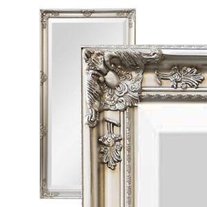 Toller XXL-Spiegel Wandspiegel Flurspiegel ca 200x100cm silber Antik-Stil barock