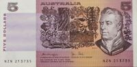 1979 Australia Last $5 NZN 213735 Knight Stone Paper Banknote Issue r207
