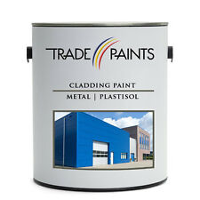Plastisol Plastic Metal & Galvanised Cladding Paint 100's Of Colours 5 Litre