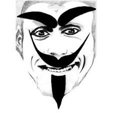 Moustache noire très pointues avec sourcils et bouc kit de diable deguisement