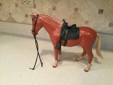Vintage Louis Marx Johnny West Horse Pony Soreel Pancho W/ Saddle & Accessories