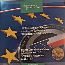 Poland 1995, 1996, 2003 Set 10 Polish Circulation Coins Poland's Accession to EU