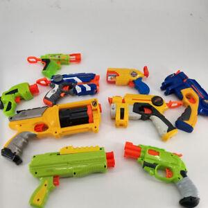 Nerf Lot of 10 New Glowshot N-Strike Dart Blasters Toy Guns w 3 Darts Collection