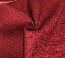 LAURA ASHLEY RED CHENILLE UPHOLSTERY FABRIC 1.4 METRES