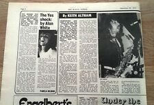 HAWKWIND 'Nik T'  1972 UK ARTICLE / clipping