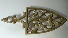 Vintage Virginia Metalcrafters  Brass Sad Iron Shaped Trivet Stand