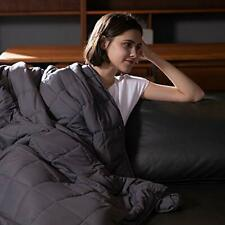 Syrinx King Size Weighted Blanket 25lbs 80''x87'&# 039; Dark Grey for Adults 100% B.