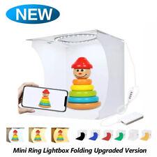 20CM Ring LED Folding Portable Studio Photo Dimmable Light Box  Tent 6 Backdrops